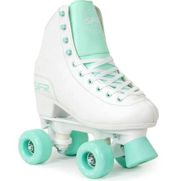 SFR Figure Quad Roller Skates - White/Green