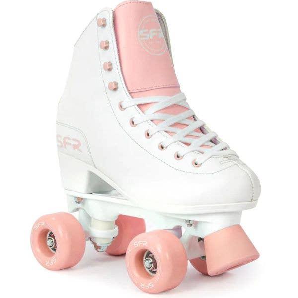 SFR Figure Quad Roller Skates - White/Pink