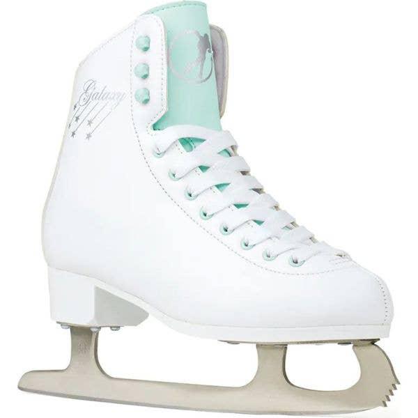SFR Galaxy Cosmo Ice Figure Skates - White/Green