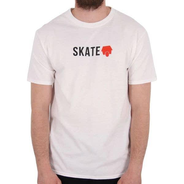 SkateHut Skate Logo T Shirt - White/Red