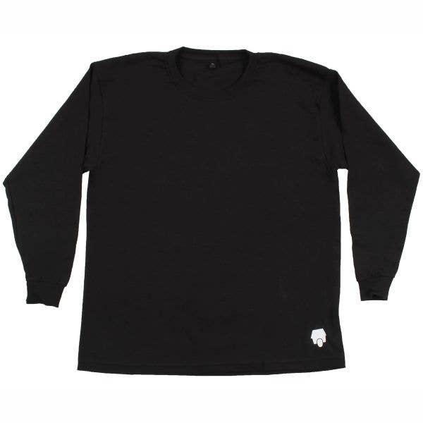 SkateHut StateHut Long Sleeve Kids T Shirt - Black/White