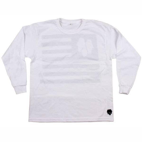 SkateHut StateHut Long Sleeve Kids T Shirt - White/Black