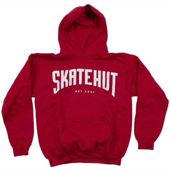 SkateHut Arc Kids Hoodie - Red