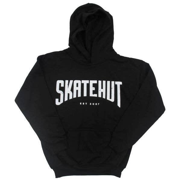 SkateHut Arc Kids Hoodie - Black