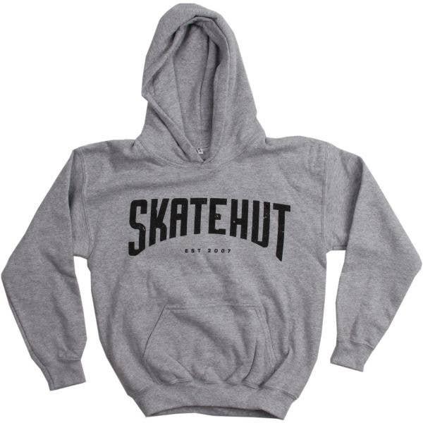 SkateHut Arc Kids Hoodie - Grey