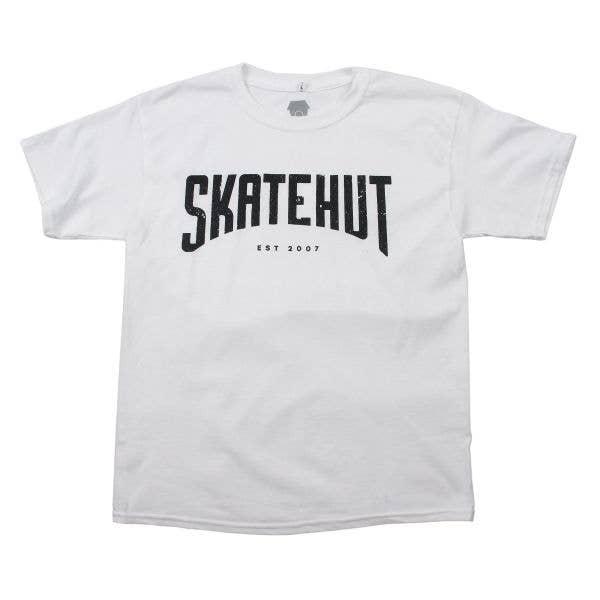SkateHut Arc Kids T Shirt - White