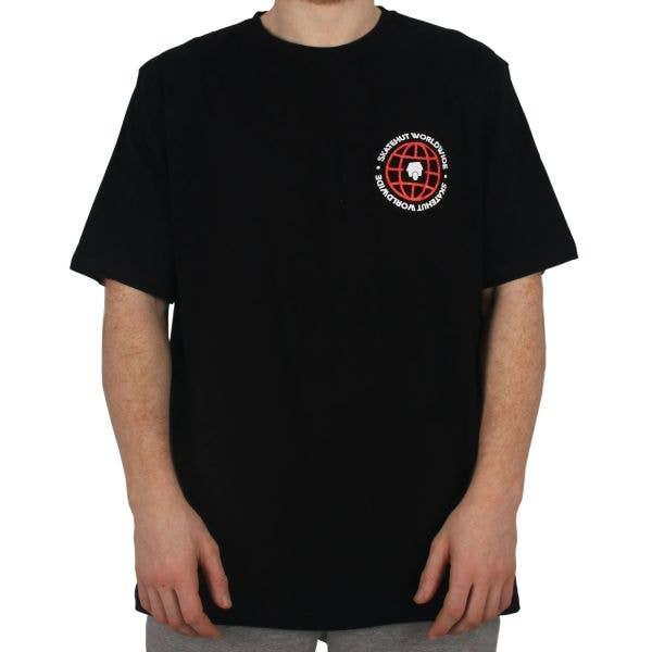 SkateHut Worldwide T Shirt - Black