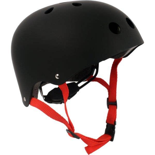 SkateHut Pro Helmet - Matt Black/Red