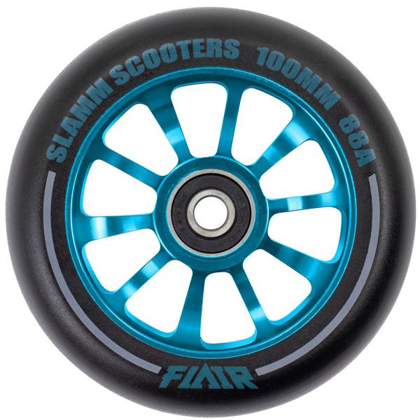 Slamm Flair 2.0 100mm Scooter Wheel - Black/Blue