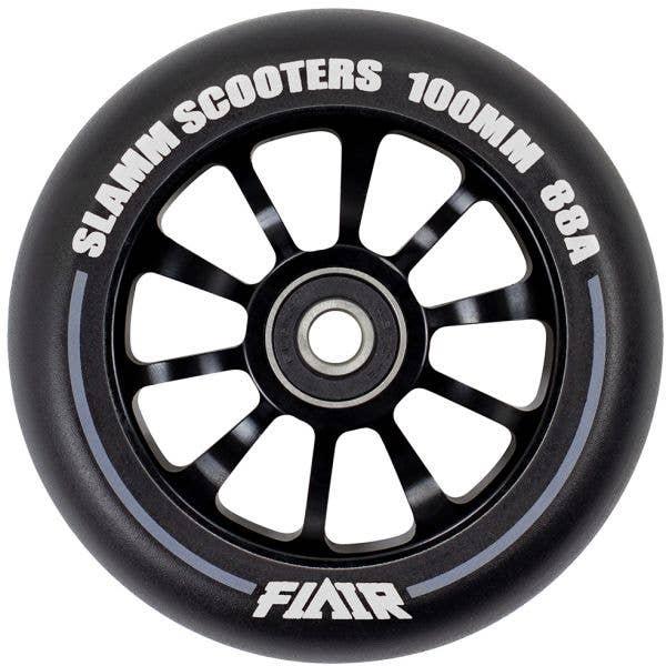 Slamm Flair 2.0 100mm Scooter Wheel - Black/Black