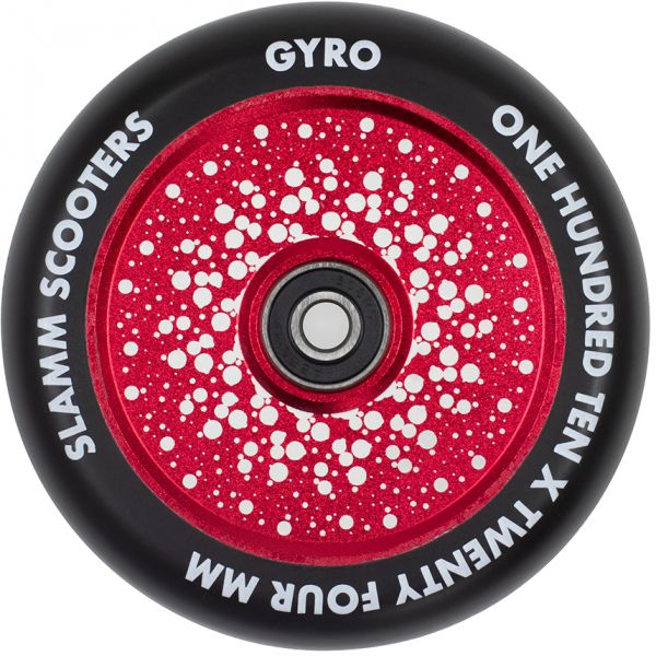 Slamm Gyro Hollow Core 110mm Scooter Wheel - Red