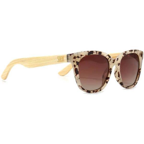 SOEK Lila Grace Polarized Sunglasses - Ivory Tortoise