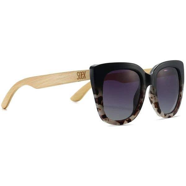 SOEK Riviera Polarized Sunglasses - Black/Ivory Tortoise