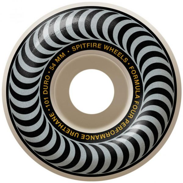 Spitfire Formula Four Classic 101a Skateboard Wheels - Silver 54mm (Pack of 4)