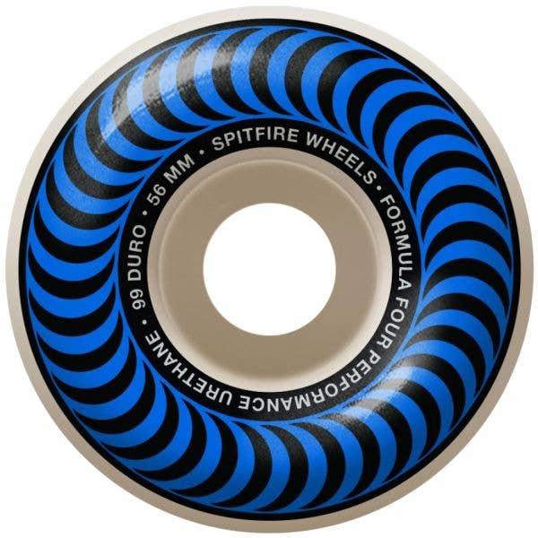 Spitfire Formula Four Classic 99a Skateboard Wheels - Blue 56mm (Pack of 4)