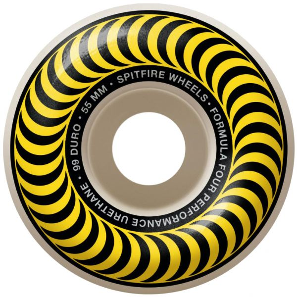 Spitfire Formula Four Classic 99a Skateboard Wheels - Yellow 55mm (Pack of 4)