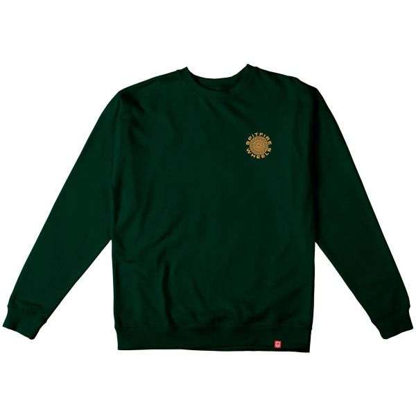 Spitfire Classic 87' Swirl Sweatshirt - Dark Green/Orange