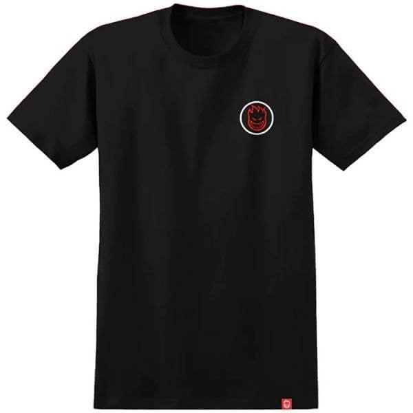 Spitfire Classic Swirl Fade T Shirt - Black/Red/White