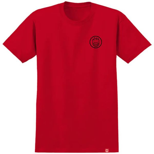 Spitfire Classic Swirl Youth T Shirt - Red/Black