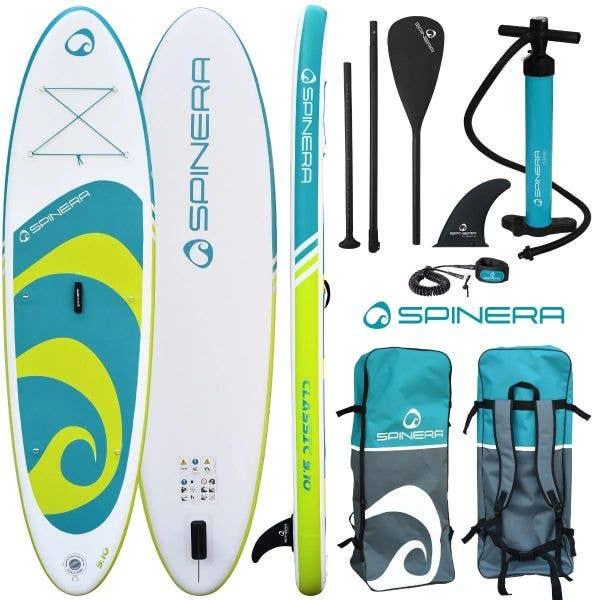 Spinera Classic iSUP w/Paddle, Pump, Leash, Bag - 9ft10