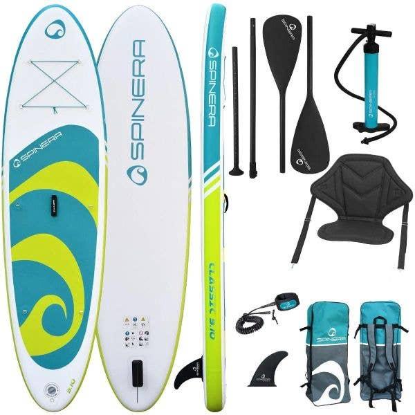 Spinera Classic iSUP w/Paddle, Pump, Leash, Bag, Seat - 9ft10
