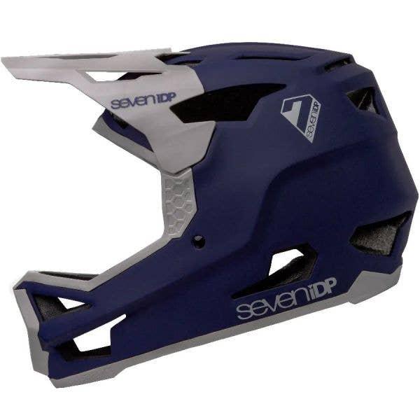 7iDP Project 23 Glass Fibre Helmet - Matte Deep Space Blue/Gloss Grey