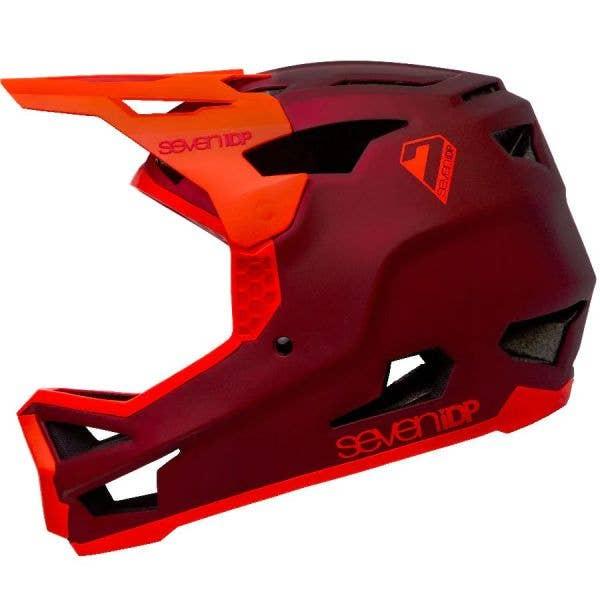 7iDP Project 23 Glass Fibre Helmet - Matte Dark Red/Gloss Thruster Red