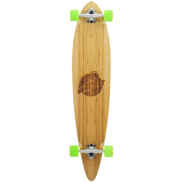 Two Bare Feet The Chuck Complete Longboard - Natural/Green 44''
