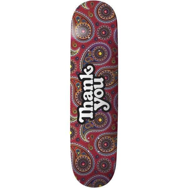 Thank You Paisley Skateboard Deck 7.75''