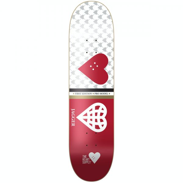 The Heart Supply Jagger Society Skateboard Deck 8.25''