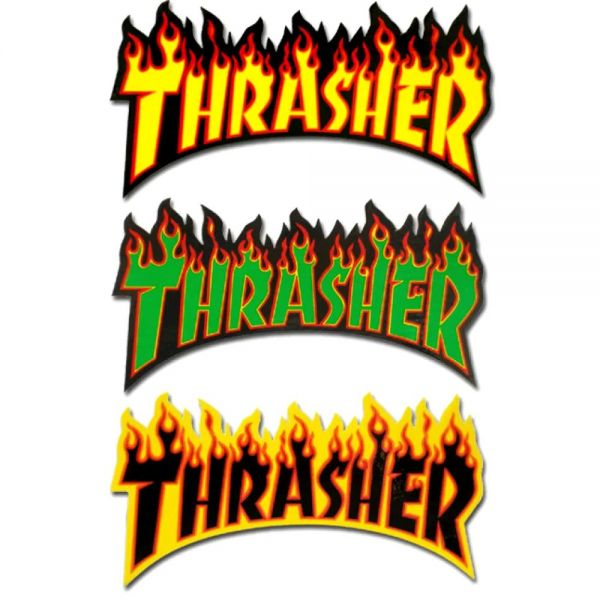 Thrasher Flame Logo Skateboard Sticker - Random