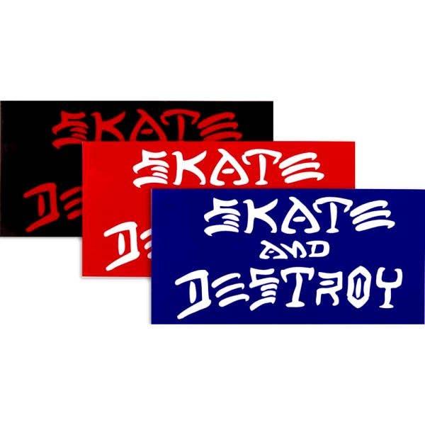 Thrasher Skate & Destroy Skateboard Sticker - Random