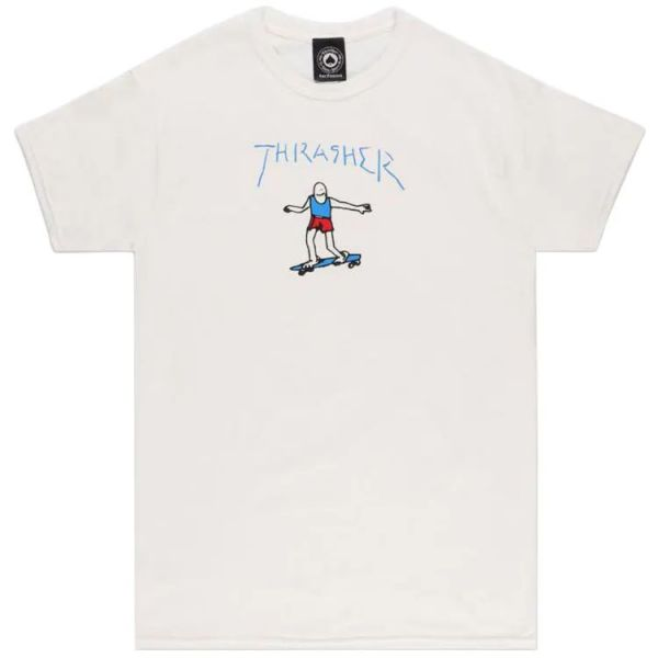 Thrasher Gonz Logo T Shirt - White