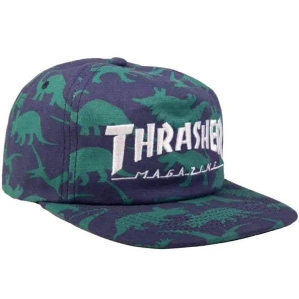 Thrasher Mag Logo Snapback Cap - Dino Print