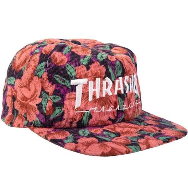 Thrasher Mag Logo Snapback Cap - Pink Floral