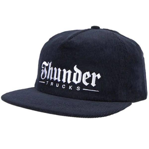 Thunder Script Snapback Cap - Navy/White