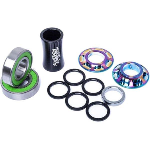 Total BMX Team Mid Bottom BMX Bracket - Rainbow 22mm