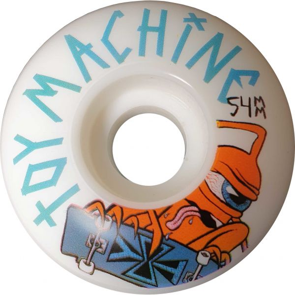 Toy Machine Sect Skater 100a Skateboard Wheels - White 54mm (Pack of 4)