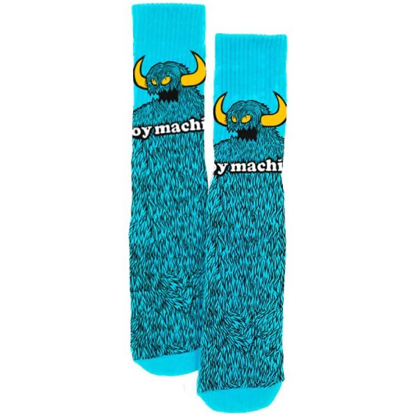 Toy Machine Furry Monster Socks - Aqua