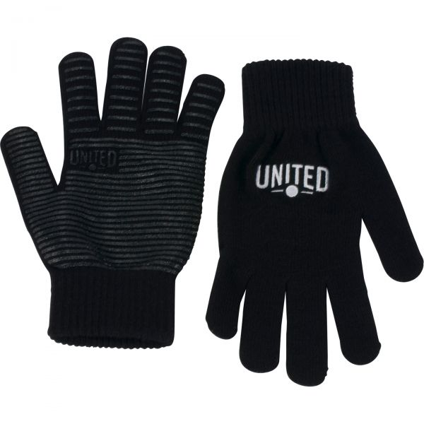 United Signature Knitted Grip Protective Gloves - Black XL