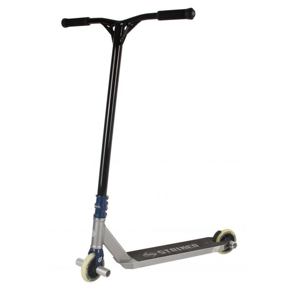 UrbanArtt x Striker Custom Stunt Scooter - Chrome/Black/Blue