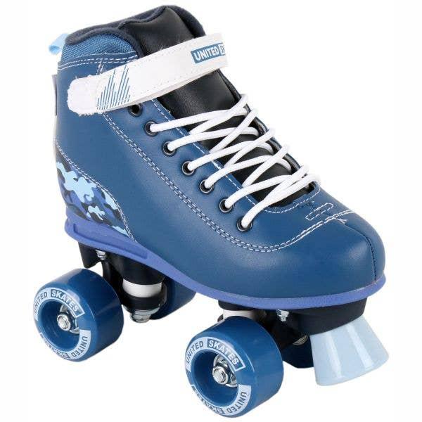 United Skates Vibe Quad Roller Skates - Camo (Blue)