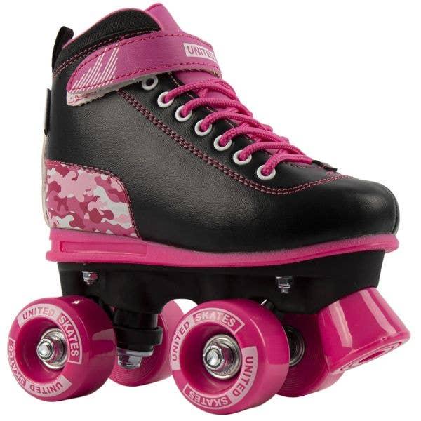 United Skates Vibe Quad Roller Skates - Camo Pink