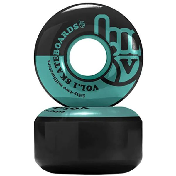 Vol.1 No. 1 Skateboard Wheels - Black/Teal 52mm