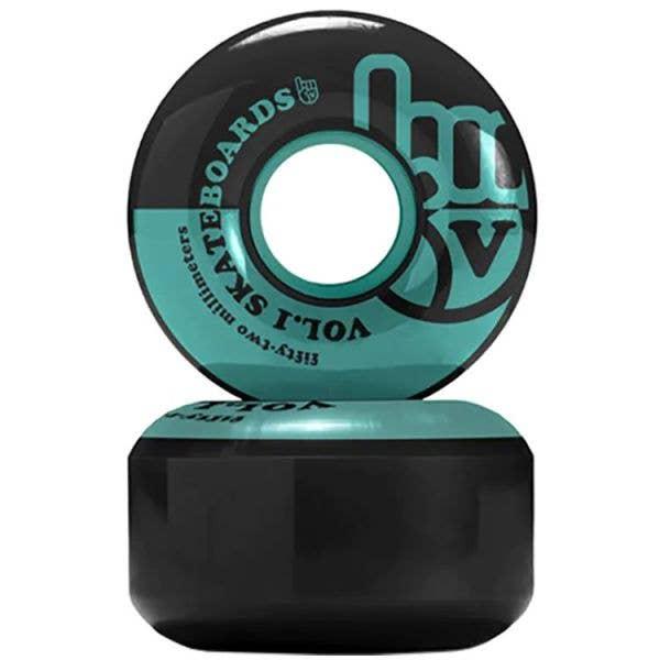 Vol.1 No. 1 Skateboard Wheels - Black/Teal 53mm
