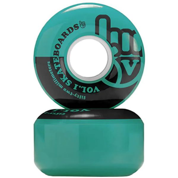 Vol.1 No. 1 Skateboard Wheels - Teal/Black 52mm
