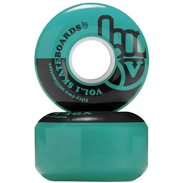 Vol.1 No. 1 Skateboard Wheels - Teal/Black 53mm