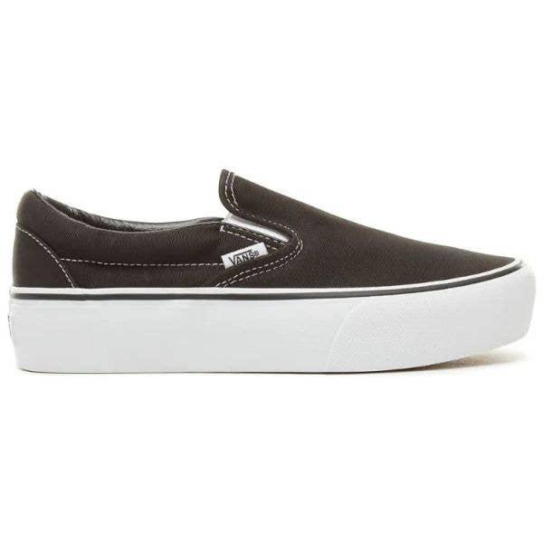 Vans Classic Slip-On Platform Skate Shoes - Black