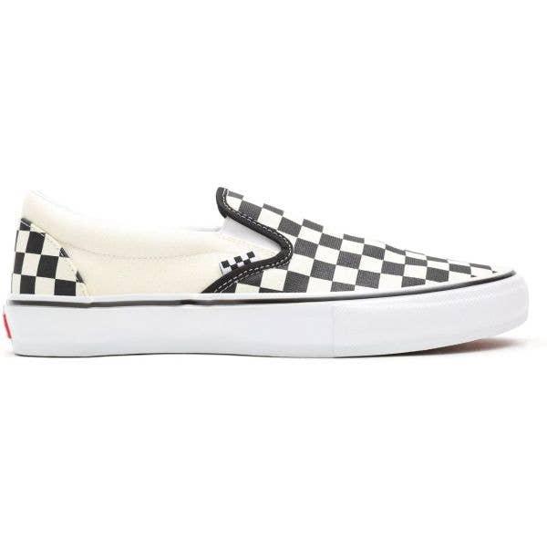 Vans Skate (Checkerboard) Slip-On Skate Shoes - Black/Off White
