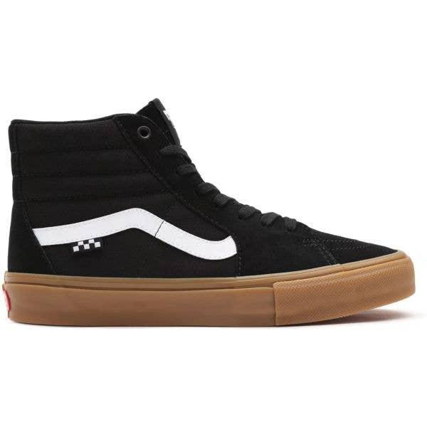 Vans Skate Sk8-Hi High-Top Skate Shoes - Black/Gum